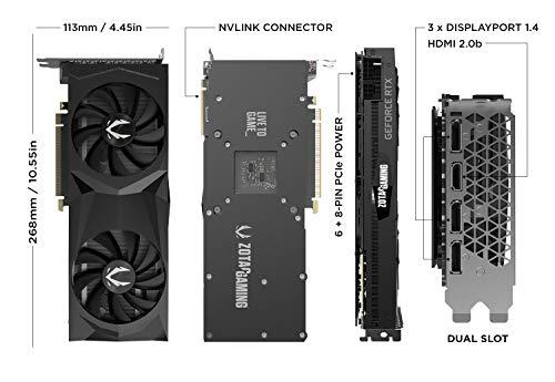 ZOTAC GAMING GeForce RTX 2070 SUPER Twin Fan 8GB GDDR6 256-bit 14Gbps  Gaming Graphics Card, IceStorm 2 0, Spectra Lighting, ZT-T20710F-10P