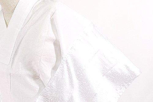 二部式長襦袢 白 M Lサイズ柄おまかせ 地紋おまかせ 洗える 裾よけ長十 検針済