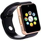 Bingo T50 Bluetooth Smart Watch with Sim Card Slot and Camera-Golden With Free USB LED Light