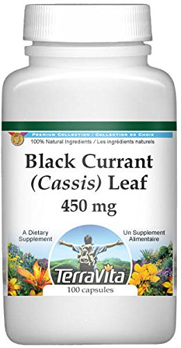 Black Currant (Cassis) Leaf - 450 mg (100 Capsules, ZIN: 513765) - 2 Pack by TerraVita (Image #1)
