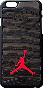 Jordan x iphone 6+ Plus Black Gray Silicone Skin Case Rubber Feels Looks like the Sneaker Sole Thin **SHIP FROM USA**