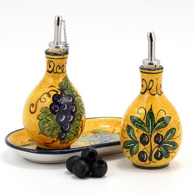 Oil and Vinegar Set on Tray [#6003-OUB] ()