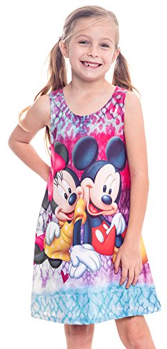 [Disney Girl's Tank Dress Print Nightgown Coverup (Mickey & Minnie, XS)] (Mickey Dress)