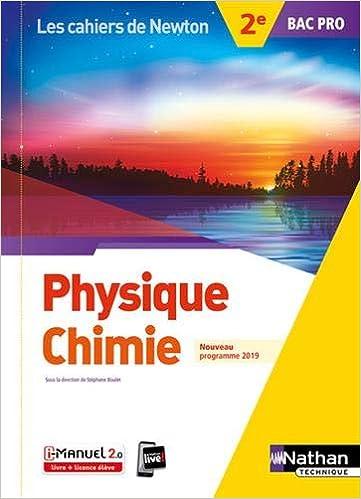 Physique Chimie 2de Bac Pro Amazon Fr Stephane Boulet