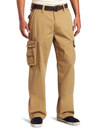 Unionbay Men's Cotton Twill Survivor Cargo Pant, Rye Belt, 3