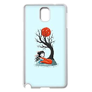 Girl and a Fox 2 Samsung Galaxy Note 3 Cell Phone Case White Yjbfl