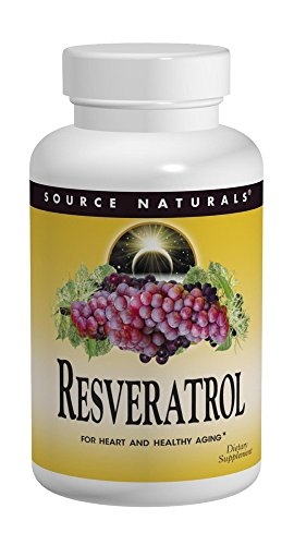 Source Naturals Resveratrol 40mg, Super Nutrient Support for Heart and Healthy Aging, 60 Tablets