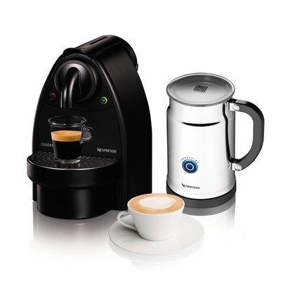 Essenza Manual Espresso Machine with Aeroccino Plus Milk Frother Bundle Option: Black/Aero+Bundle