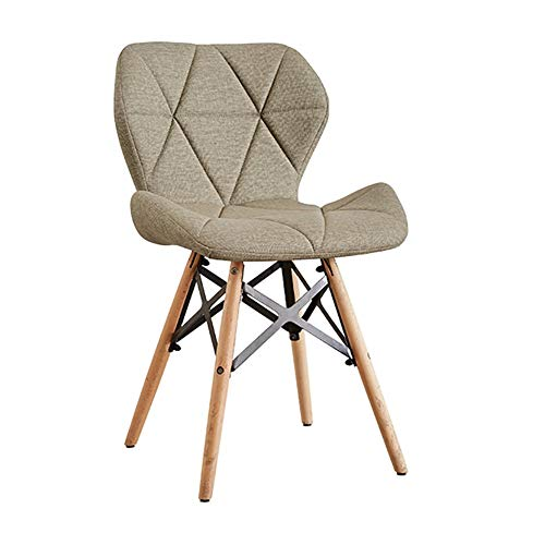Price comparison product image Fancuistore 12 Colour Eiffel Style DSW Modern Dining Chairs with Solid Beech Wooden Legs, Comfy Seat, for Desk,  Patio,  Terrace,  Office,  Kitchen,  Lounging& More45 x 38 x 50 cm (Color : Khaki)