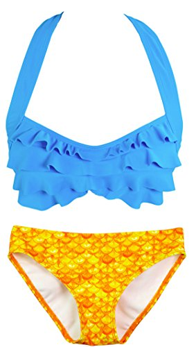 Con Donna Reggiseno Mermaidens blue Tropical Stile Balze Fun Fin Sirena A Bikini Sunrise Costume 4XI6wxaqnZ