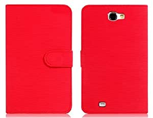 Toothpick Grain Faux Leather Flip Case with Card Slots & Magnetic Closure for Samsung Galaxy Note 2/ N7100 (Red)