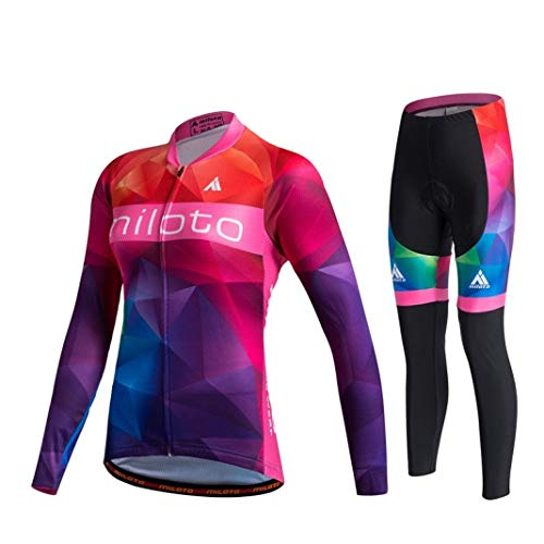 Women Cycling Jersey Sets Long Sleeve Jersey Pro Team Cycling Clothing for Road Bike Riding