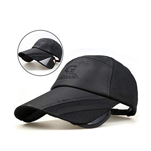 CGXBZA Cap Retractable Visor Female Sunscreen Fishing Cool Hat Korean Sun Hat Outdoor Baseball Cap
