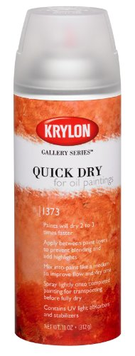 Krylon  K1373 Quick Dry For Oil Paintings