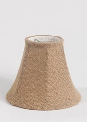 Urbanest 1100258 Chandelier Lamp Shade 6-inch, Bell, Clip On, Burlap