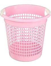 Lamsa Plast Plastic Trash Bin, Pink