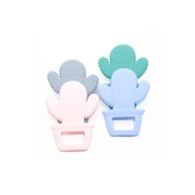 Cactus Silicone Baby Teether Teething Necklace Pendant Soft Silicone Beads BPA Free Chewable Toy: Home & Kitchen