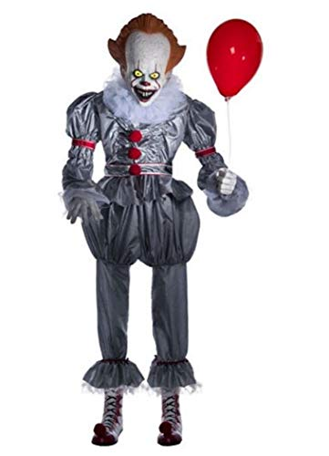 Animated Giant Pennywise Figure Halloween Yard Decoration and Prop, 6' H, by Morbid ()