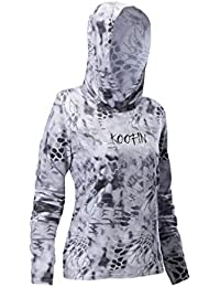 1522c898 Women's Long Sleeve Hooded Sunshirt UPF 50+ Sun Protection Performance  Fishing Hoodie Athletic Workout Tops