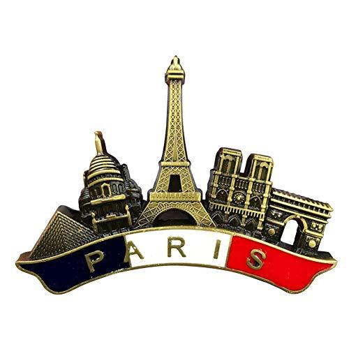 (Per 3D Fridge Magnet Souvenir Handmade Craft Tourist Travel City Collection Letter Refrigerator Sticker French Paris Metal Refrigerator Decal Home Decor)