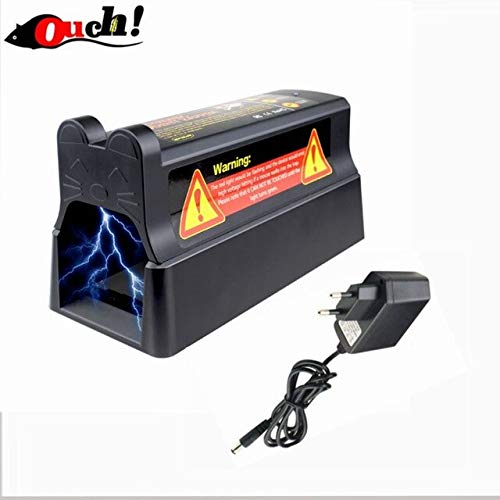Ouch Electronic Mousetrap with EU Plug Adapter Professional Voltage Effective and Powerful Killer for Rat Squirrels   Black and EU Plug
