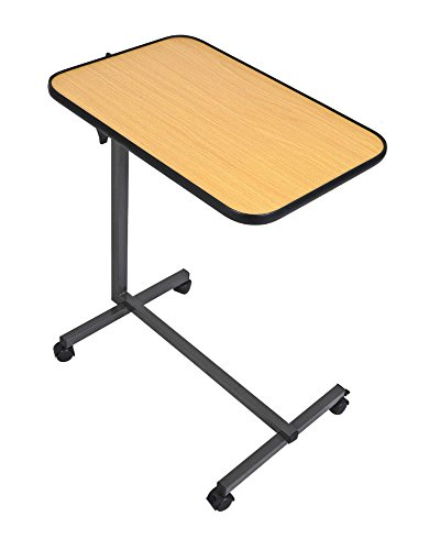 Rolling Tilt Top Overbed Table Over The Bed Table Tilt-Top and Locking Casters from Unknown