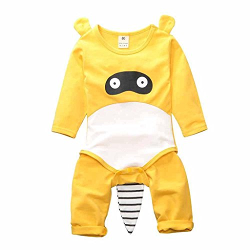 [100% COTTON]Cotton children's cartoon Pajamas Set neutral pear - 2