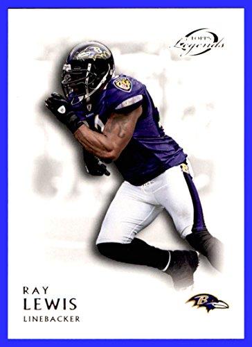 (2011 Topps Legends #127 Ray Lewis baltimore ravens miami hurricanes)