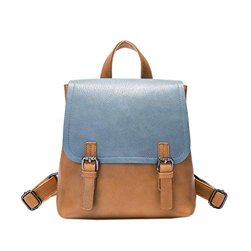 JIUTE Mochila Bolso de Hombro Estilo Británico Lady PU Leather