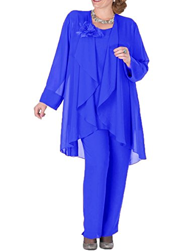 3 Pieces Mother Pantsuits with Jacket Plus Size Formal Outfits Size 22 ()