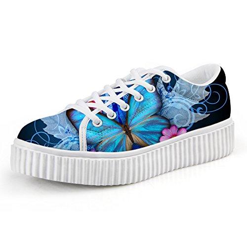 Knuffels Idee Mode Schedel Vrouwen Plateauzolen Meisjes Sneakers Butterfly1