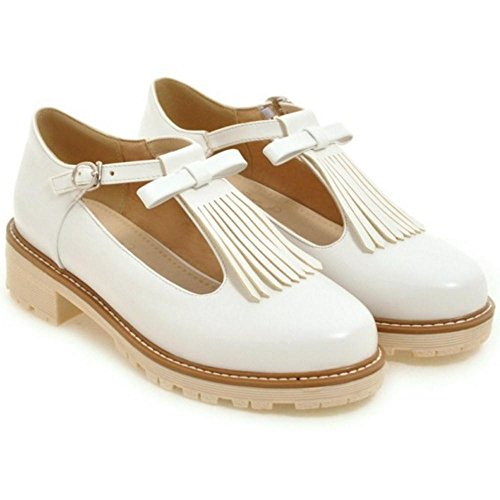 T Fringes Women KemeKiss Fashion White bar Pumps wCREpqO