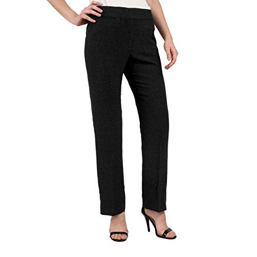 ADRIENNE VITTADINI Women's Business Casual Dress Pants (12Petite, Grey) by ADRIENNE VITTADINI