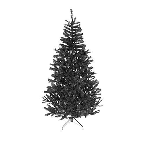 5ft- Black Christmas Tree Imperial 390 Tips Artificial Tree with Metal Stand]()