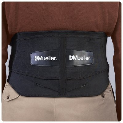Mueller Lumbar Back Brace with Removable Pad Extended fits waist sizes 50