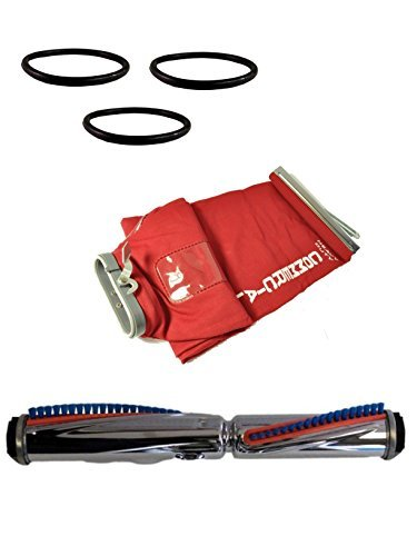 Sanitaire Eureka Commercial Vacuum Cleaner Brush Roll, Cloth Shake Out Bag, and 3 Round Vacuum Cleaner Belts by Sanitaire