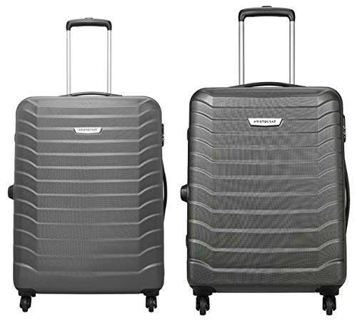 Aristocrat Juke Polycarbonate 75 cms Grey Hard Sided Suitcase + Juke Polycarbonate 65 cms Grey Hard Sided Suitcase (JUKE75TMGP + JUKE65TMGP)