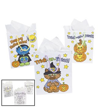 - Fun Express Color Your Own Halloween Gift Bag