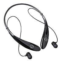LEMFO® HV-900 Wireless Sports Stereo Bluetooth Headset Neckband in-Ear Earbuds Earphone Headphone (Black)