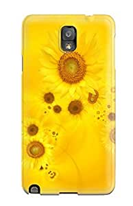 CaseyKBrown CHAJPDB8043nbrsJ Case Cover Galaxy Note 3 Protective Case Bright Yellow Sunflowers