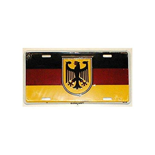 Germany Flag Bundesadler Federal Eagle Front Novelty License Plate 6x12