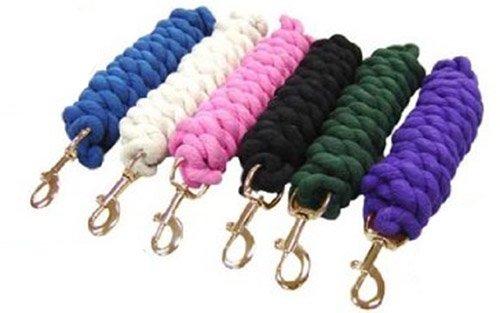 Derby Originals Cotton Lead Rope Brass Bolt Snap, Black, 6.5'