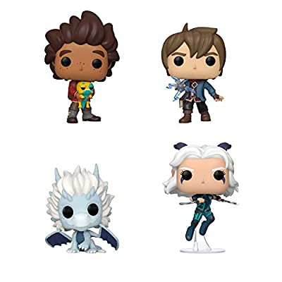 Funko Pop! Bundle of 4: Dragon Prince - Callum, Rayla, Ezran and Azymondias: Toys & Games