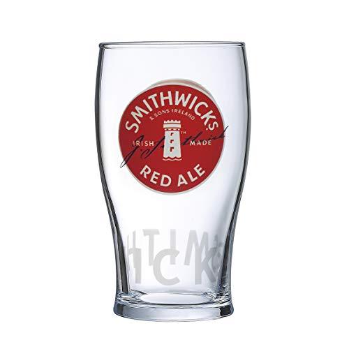 Smithwicks Ale - Smithwick's Irish Red Ale Signature Pub Glass Imperial 20oz Pint Glass