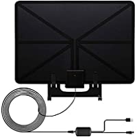 TV Antenna,Wintesla 50 Mile Range Amplified Indoor HDTV Antenna with Stand, 3ft Creative Amplifier Signal Booster ,13ft High Performance Coaxial Cable and USB Power Supply