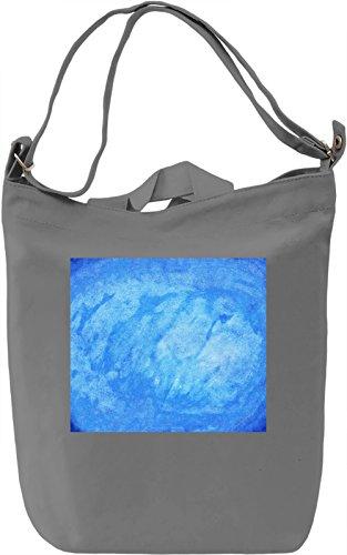 Blue Texture Borsa Giornaliera Canvas Canvas Day Bag| 100% Premium Cotton Canvas| DTG Printing|