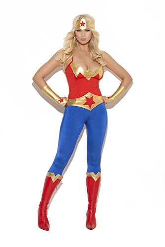Sexy Women's Super Hero Adult Roleplay Costume, Large, (Superman And Superwoman Couple Costumes)