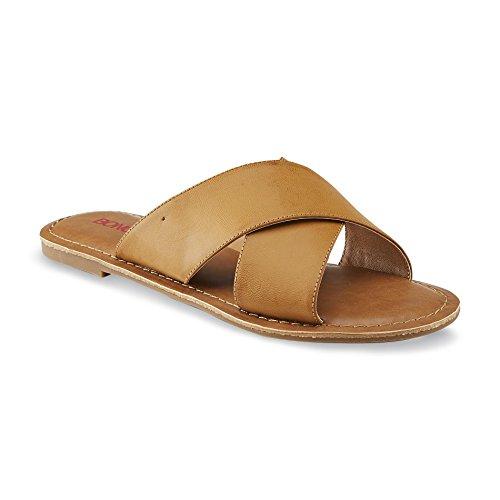 Bongo Lila Womens Slide Sandal (6 M US, Cognac) (Womens Bongo Sandals)