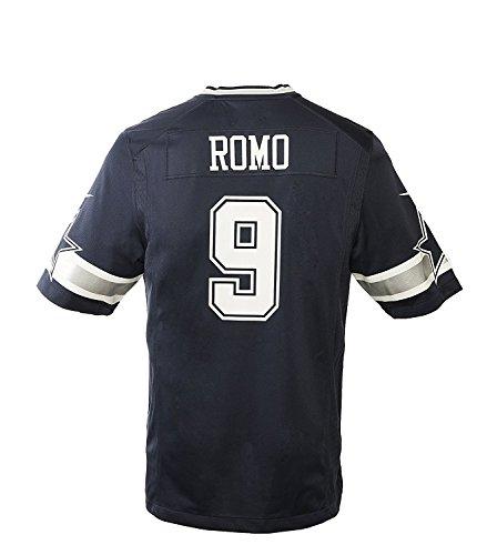 Dallas Cowboys Tony Romo #9 Nike Navy Game Replica Jersey 2XL (479384) (Print Jersey Classic Screen)