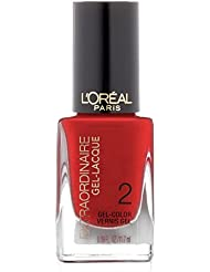 L'Oreal Paris Extraordinaire Gel-Lacque 1-2-3 Nail Color, Red-y to Shine?, (Pack of 2)